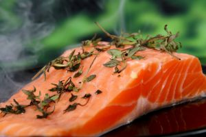 salmon con especias